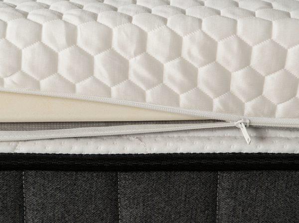cooling-latex-topper-zipper